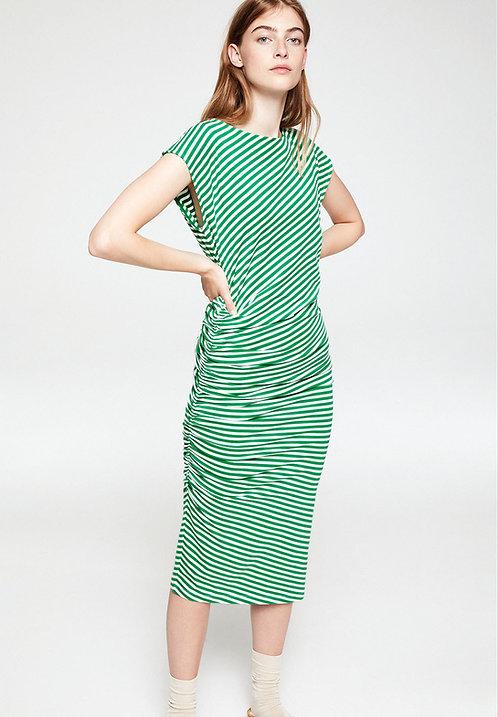 Kleid RAAYEN GARDEN GREEN aus Bio-Baumwollmix