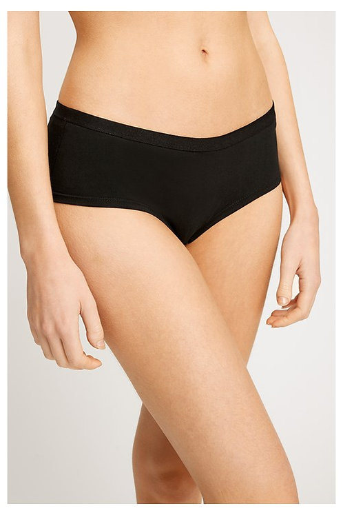Shorts LOW RISE BLACK aus Bio-Baumwollmix