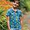 Thumbnail: Poloshirt PENWITH PARAKEETS aus reiner Bio-Baumwolle