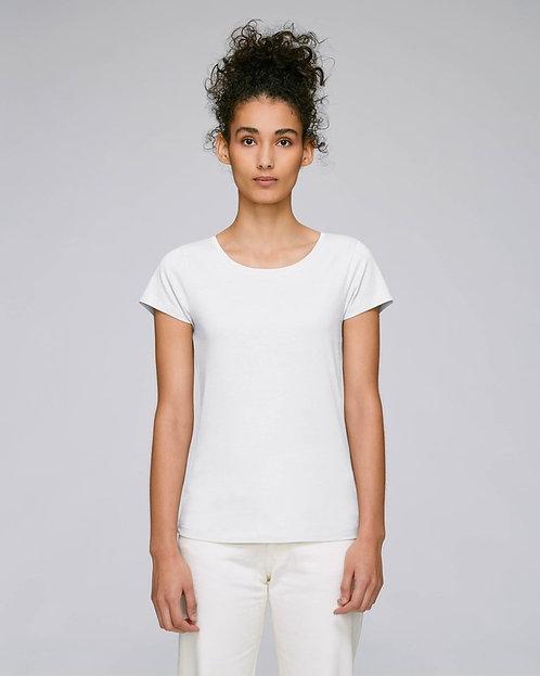 T-Shirt Damen - Weiß aus reiner Bio-Baumwolle