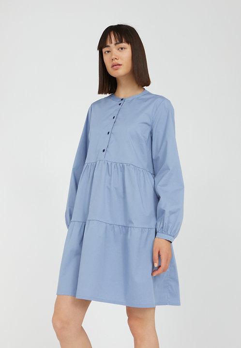 Kleid KOBENHAAVN FOGGY BLUE aus Bio-Baumwollmix