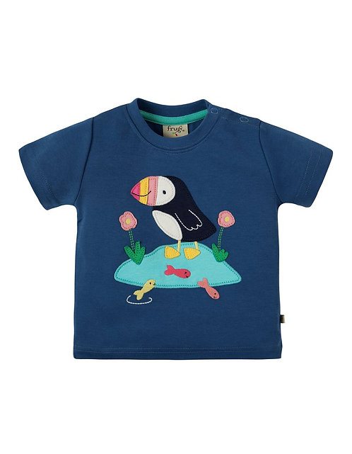 T-Shirt LITTLE CREATURE PUFFIN aus reiner Bio-Baumwolle