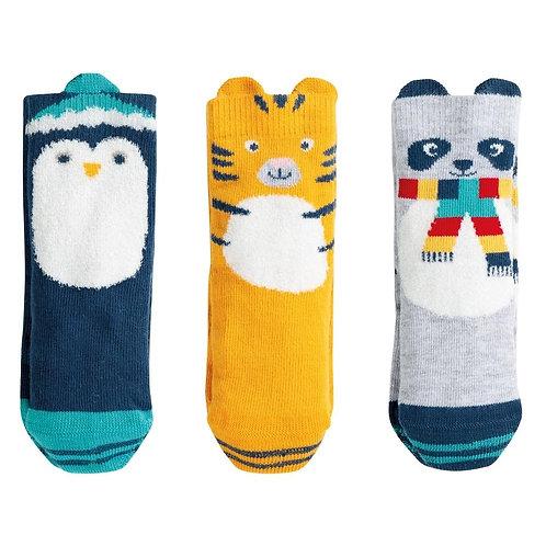 Socken 3er-Geschenksbox SOCKS IN A BOX aus Bio-Baumwollmix