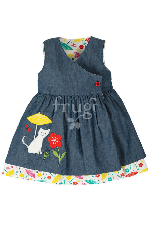 Reversible-Kleid EVERLY CAT aus reiner Bio-Baumwolle