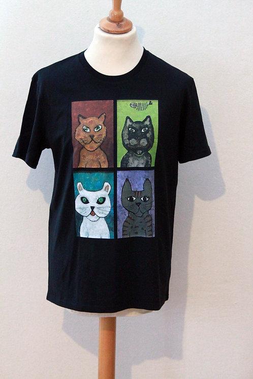 """T-Shirt Herren """"KunstStoffSammlung #3"""" aus reiner Bio-Baumwolle"""