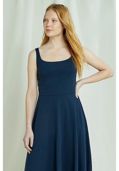 Kleid TYRA NAVY aus Bio-Baumwollmix