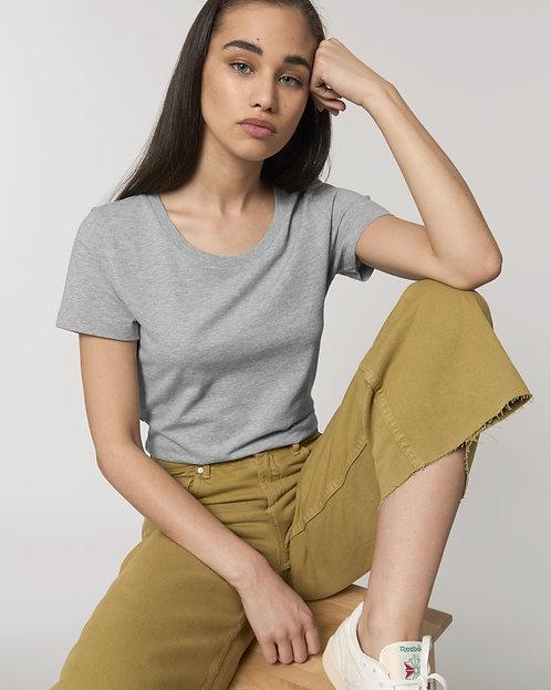 T-Shirt Damen - Grau aus reiner Bio-Baumwolle