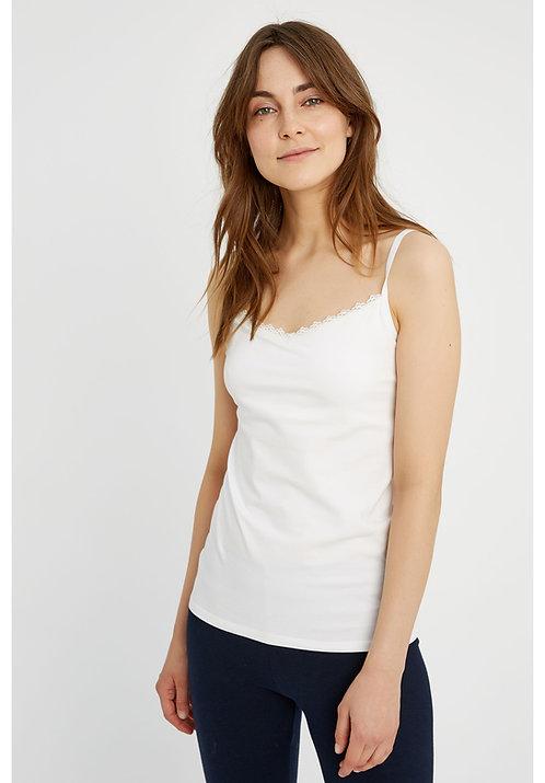 NEU: Unterhemd HIDDEN SUPPORT CAMISOLE WHITE aus Bio-Baumwollmix