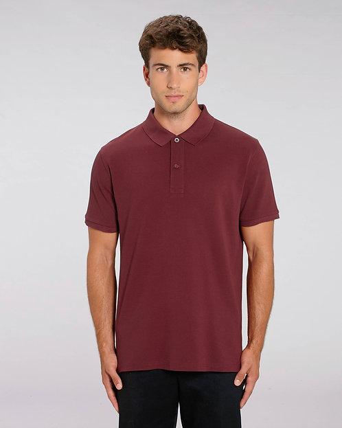 Herren-Poloshirt weinrot aus reiner Bio-Baumwolle
