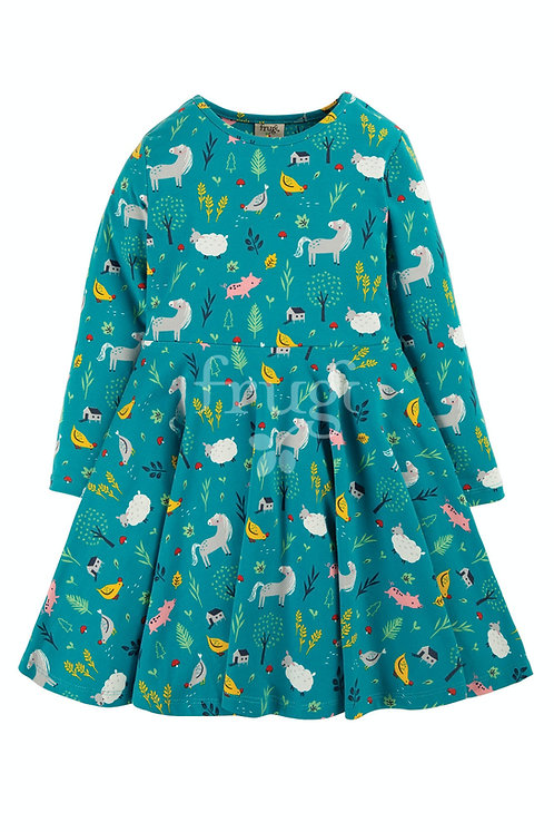 Kleid SOFIA SKATER DRESS  FARMYARD aus Bio-Baumwollmix