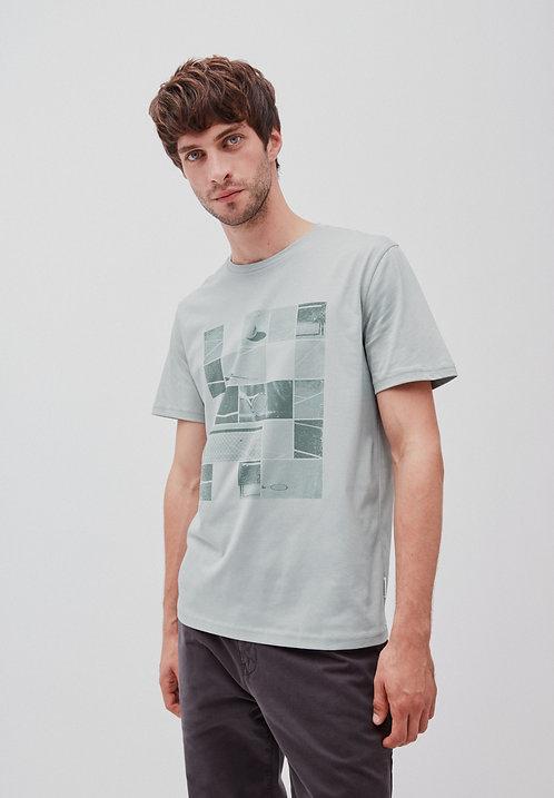 T-Shirt JAAMES TENNIS COURT belgian blue aus reiner Bio-Baumwolle