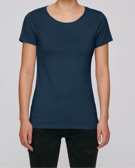 T-Shirt Damen - Navy aus reiner Bio-Baumwolle