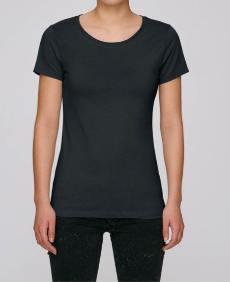 T-Shirt Damen Schwarz aus reiner Bio-Baumwolle
