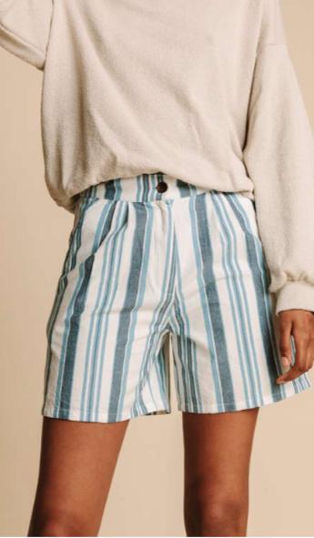 """Shorts """"MAMMA BLUE STRIPES"""" aus reiner Bio-Baumwolle"""