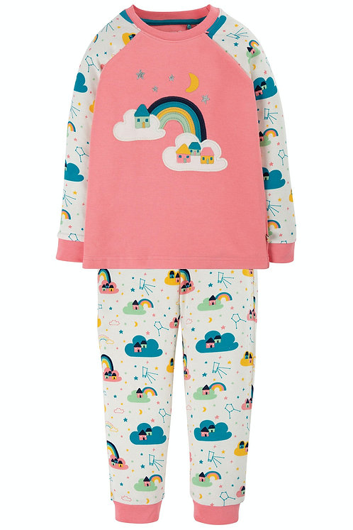 Pyjama ACE PINK RAINBOW aus reiner Bio-Baumwolle