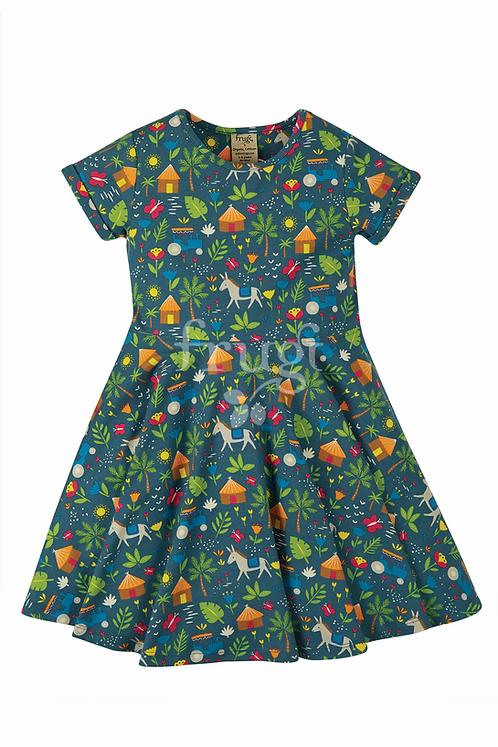 Kleid SPRING SKATER DRESS FARM aus Bio-Baumwollmix