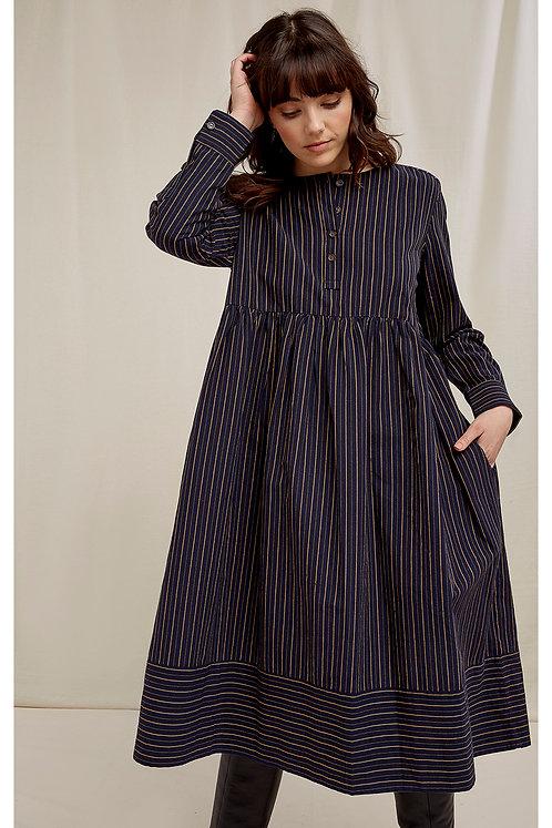 Kleid FREJA aus 100 % handgewebter Bio-Baumwolle