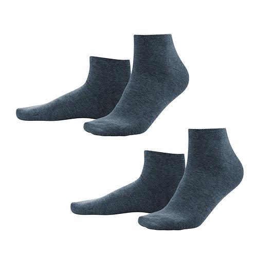 Sneaker-Socken 2er-Pack dark navy aus Bio-Baumwollmix