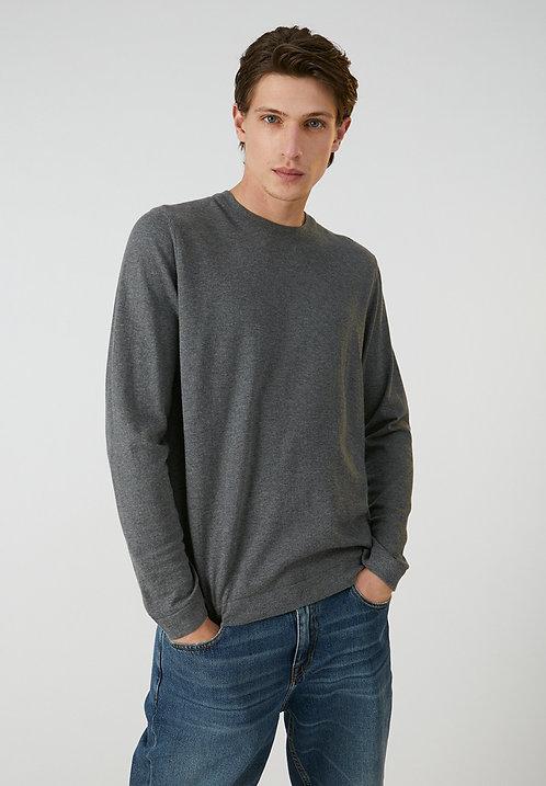 Pullover LAADO grey melange aus reiner Bio-Baumwolle