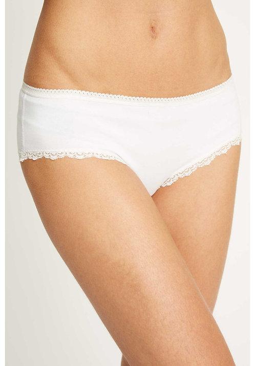 Shorts LACE HIPSTER WHITE aus Bio-Baumwollmix