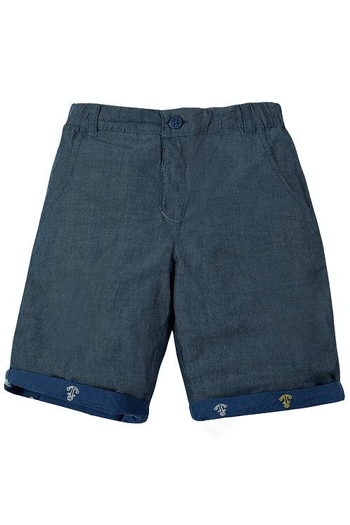 Wende-Shorts RALPH MARINE BLUE aus reiner Bio-Baumwolle
