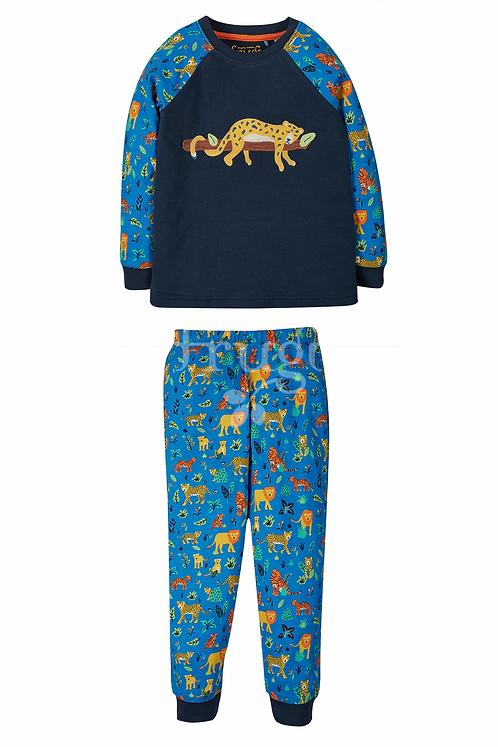 Pyjama JAMIE JIM JAMS LEOPARD aus reiner Bio-Baumwolle