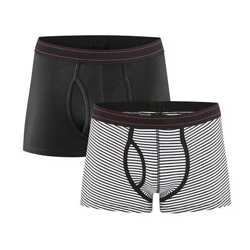 Pants 2er-Pack APOLLO BLACK NATURAL aus Bio-Baumwollmix