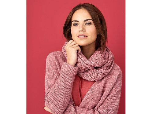 Loop-Schal aus Wolle und Bio-Baumwolle