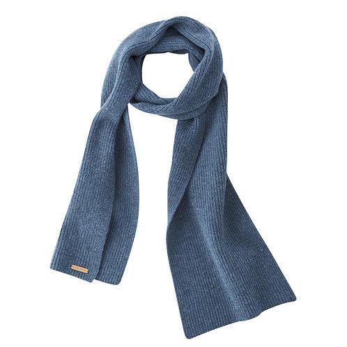 Schal JENA MID BLUE aus reiner Bio-Wolle