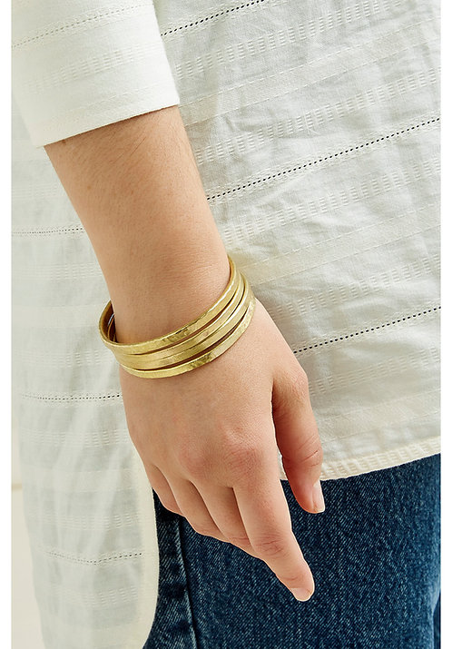Armreifen  STACKABLE BANGLES 4er-Set aus Messing