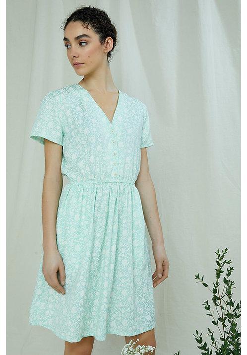 Kleid LAURA SILHOUETTE FLORAL aus 100 % TENCEL