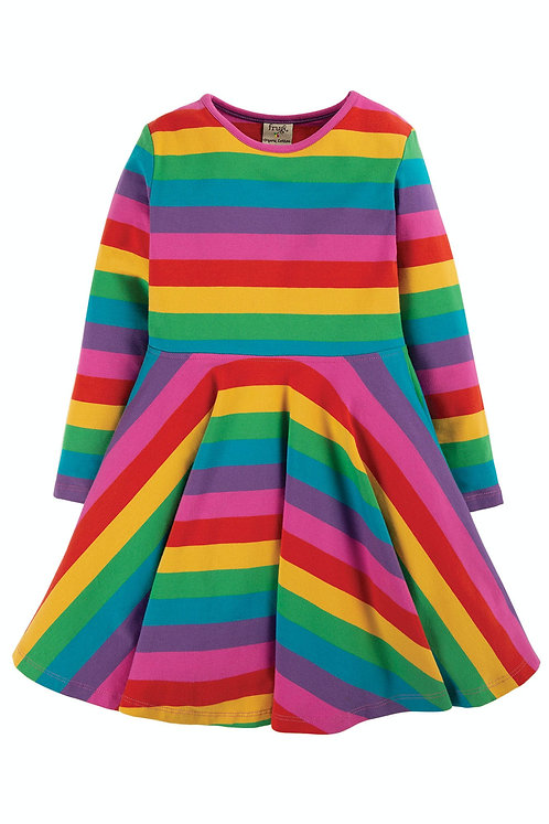 Kleid SOFIA SKATER DRESS RAINBOW aus Bio-Baumwollmix