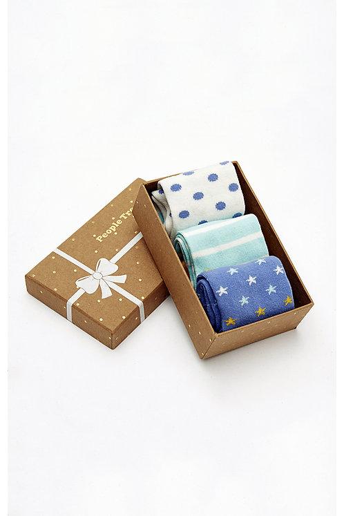 Socken-Geschenksbox 3er-Pack aus Bio-Baumwollmix
