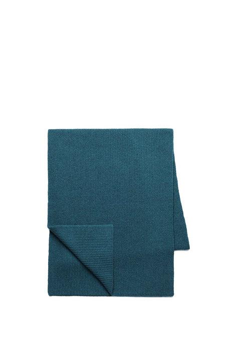 Schal CHARILL VIVID PETROL aus Wolle und Bio-Baumwolle