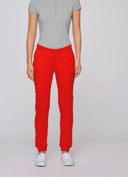 Damen-Trainingshose BRIGHT RED aus Bio-Baumwollmix