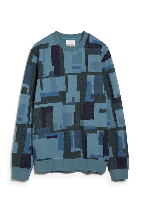 Pullover YAARICK PATCHWORK aus reiner Bio-Baumwolle