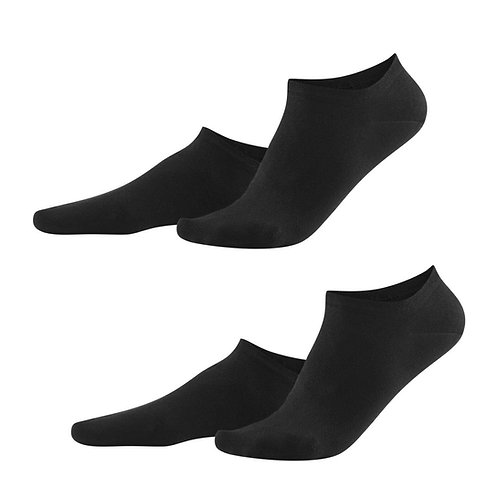 Sneaker-Socken 2er-Pack ABBY black aus Bio-Baumwollmix