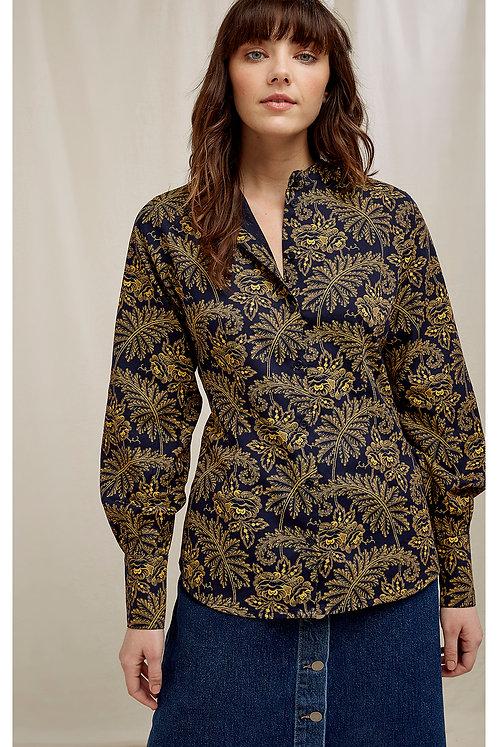 Bluse V&A ROSA PRINT SHIRT aus reiner Bio-Baumwolle