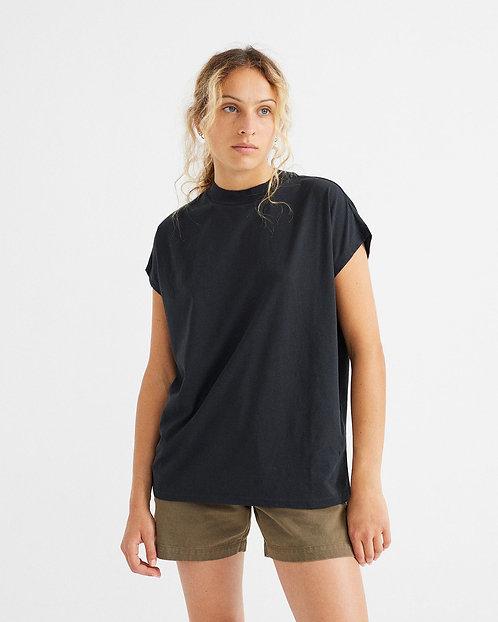 T-Shirt BASIC BLACK VOLTA aus reiner Bio-Baumwolle