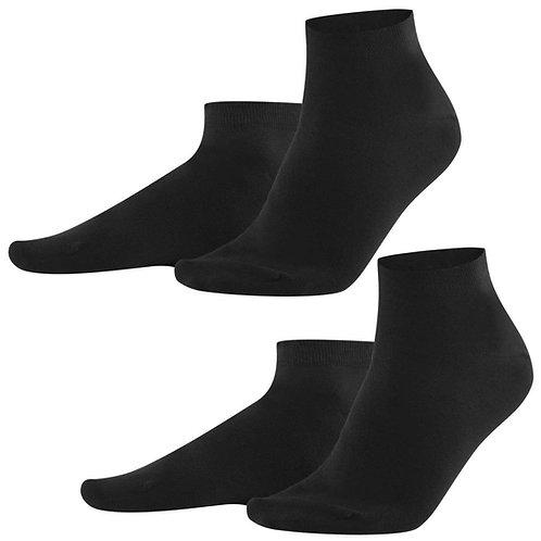 Sneaker-Socken 2er-Pack black aus Bio-Baumwollmix