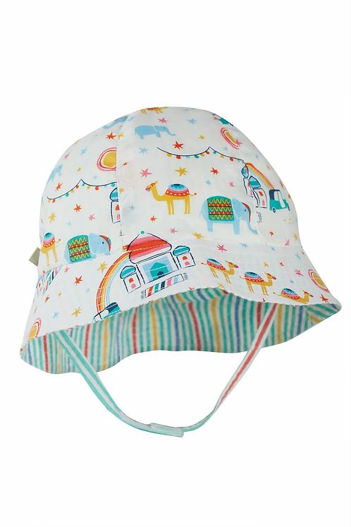 Reversible-Sonnenhut HAZY HAT aus reiner Bio-Baumwolle