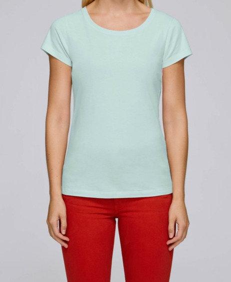 T-Shirt Damen - Caribbean Blue aus reiner Bio-Baumwolle