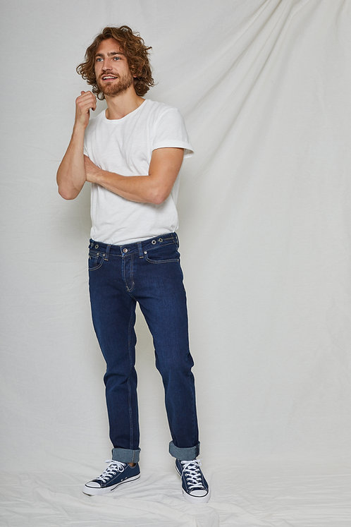 Jeans NICK classic blue - Straight Fit aus Bio-Denim