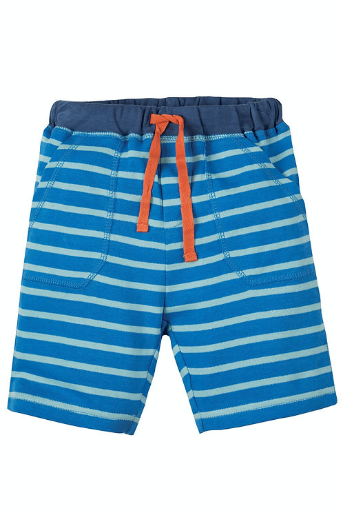 Shorts LITTLE STRIPY SAIL BLUE aus reiner Bio-Baumwolle