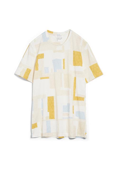 T-Shirt JAAMES PATCHWORK aus reiner Bio-Baumwolle