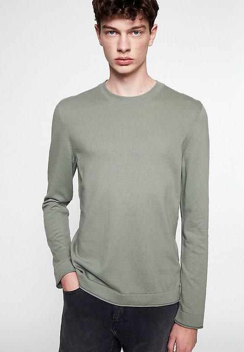 Pullover LAADO light green olive aus reiner Bio-Baumwolle