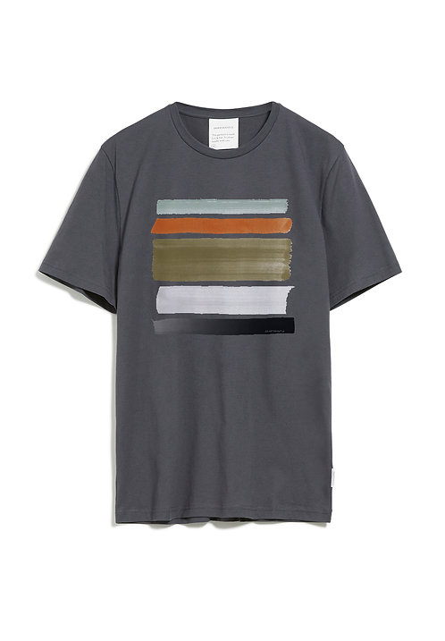 T-Shirt JAAMES STROKES acid black aus reiner Bio-Baumwolle