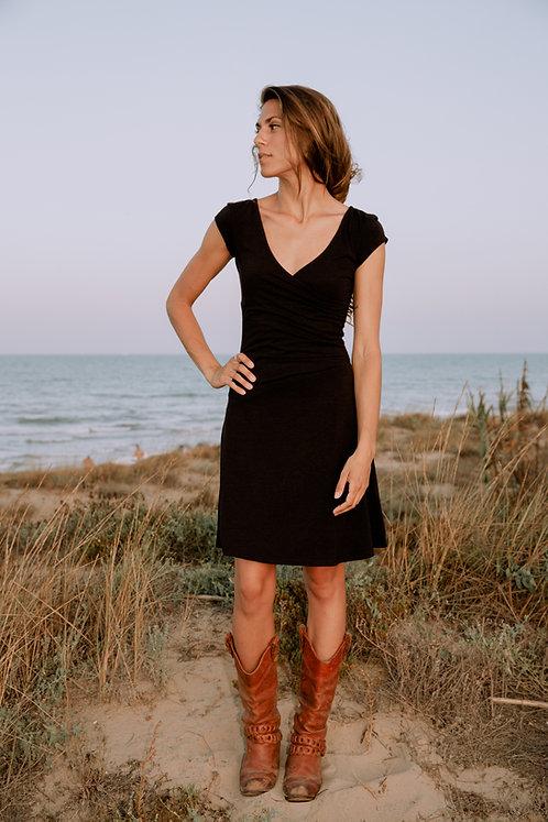 Kleid PARTY DRESS BLACK aus Hanf und Bio-Baumwolle