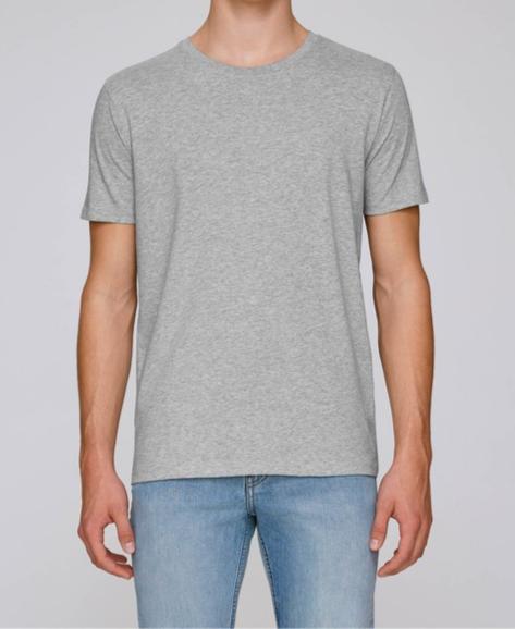 T-Shirt Herren - Grau aus reiner Bio-Baumwolle