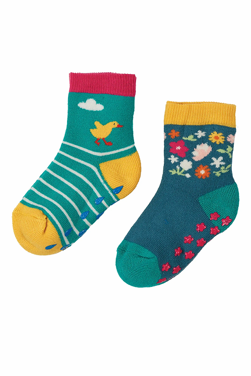 GRIPPY-SOCKS DUCK 2er-Pack aus Bio-Baumwollmix